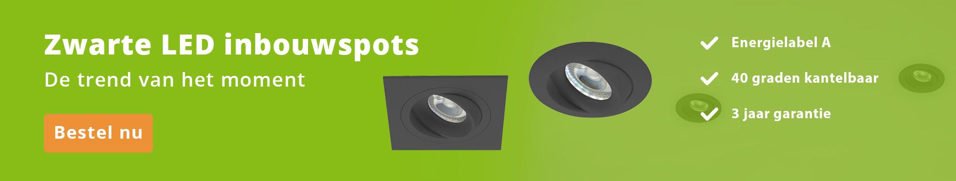 Zwarte LED Inbouwspots