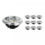 Multipack 10x Noxion Lucent LED Spot AR111 G53 Pro 12V 12W 927 40D| Hoogste Kleurweergave - Dimbaar - Vervanger voor 50W