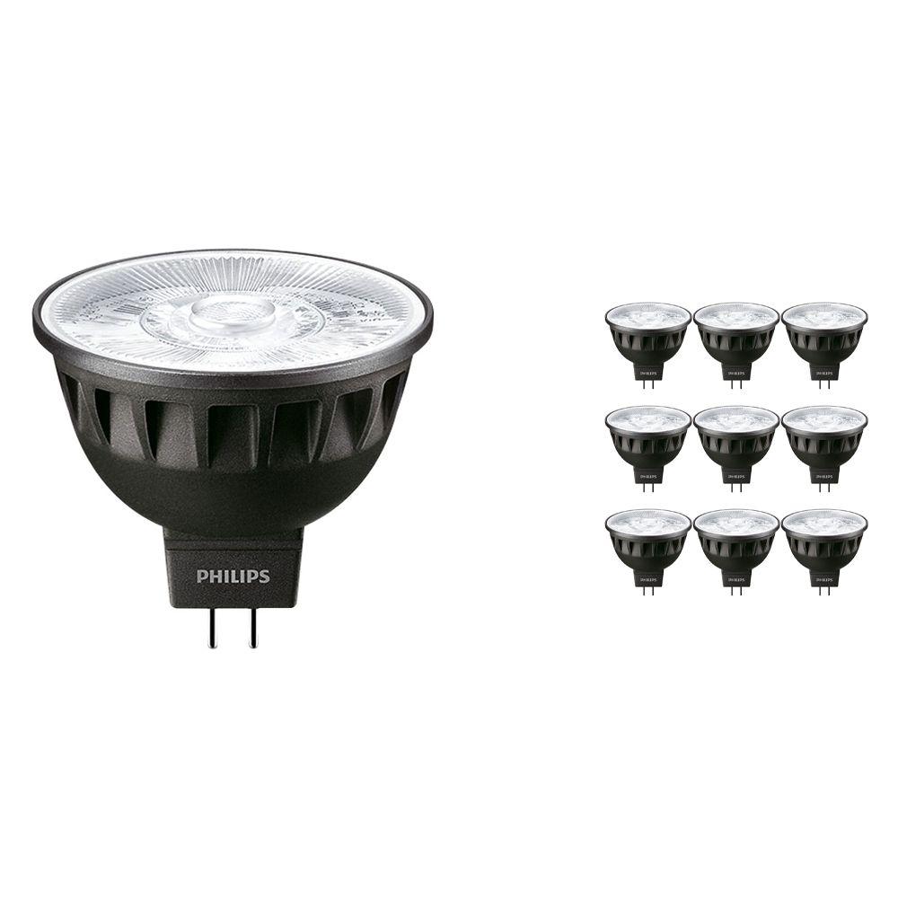 Voordeelpak 10x Philips LEDspot ExpertColor GU5.3 MR16 7.5W 930 24D (MASTER) | Hoogste Kleurweergave - Dimbaar - Vervanger voor 50W