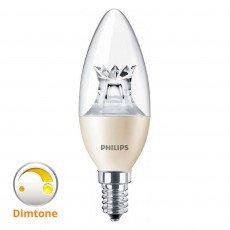 Philips LEDcandle E14 B40 8W 827 Helder MASTER   DimTone Dimbaar - Vervangt 60W