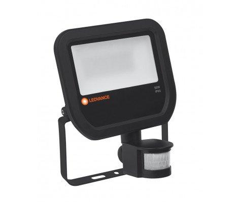 Ledvance LED Breedstraler 50W 3000K 5500lm IP65 Zwart | met Sensor - Vervangt 100W