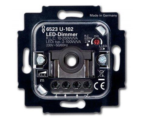 Busch-Jaeger 6523U-102 LED Dimmer 6512-0-0334 2-100W 50/60Hz (Basiselement)