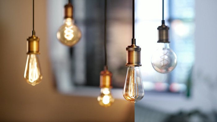 Philips Vintage LED aan / uit
